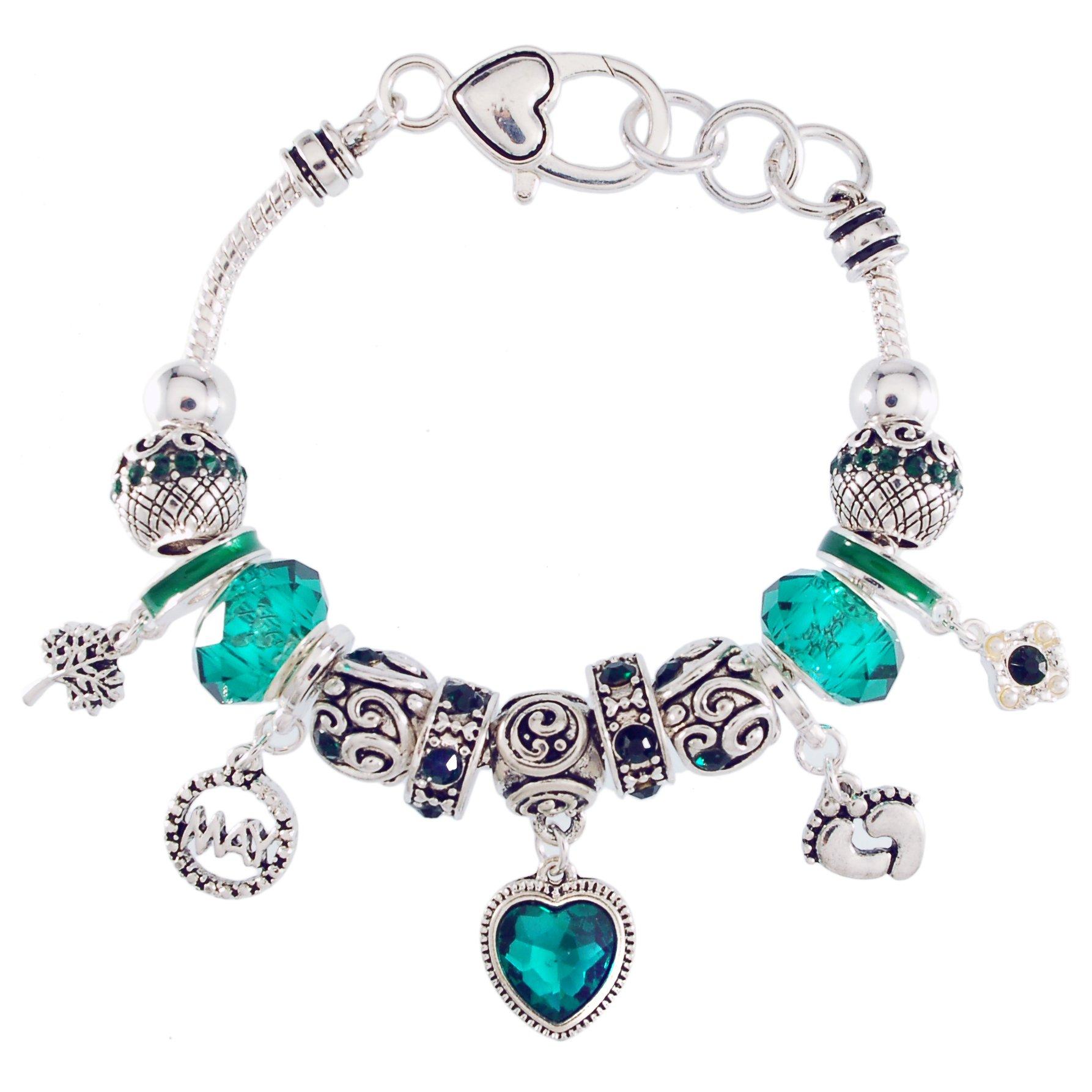 Landau Ambrosia May Birthstone Charm Bracelet