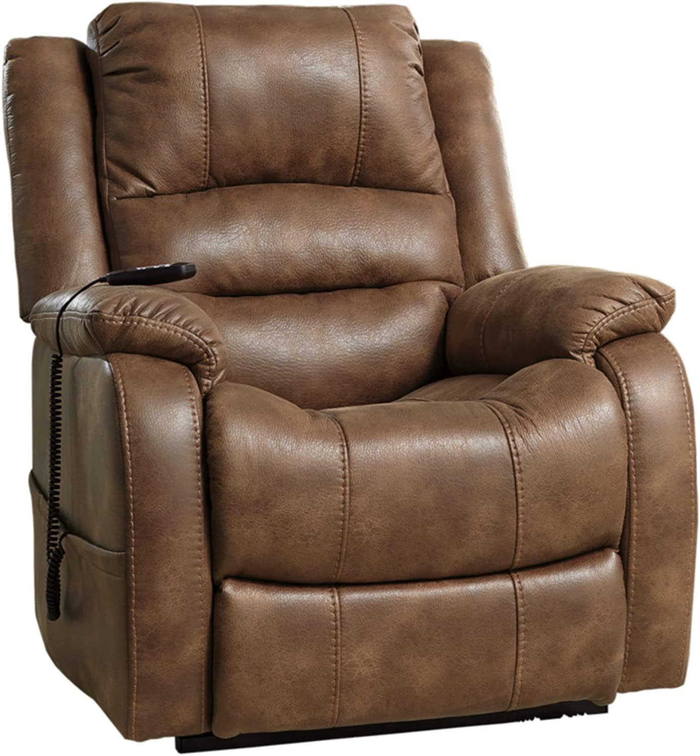 Signature Design by Ashley 1090012 Recliner, 37 D x 35.5 W x 42.75 H, Saddle