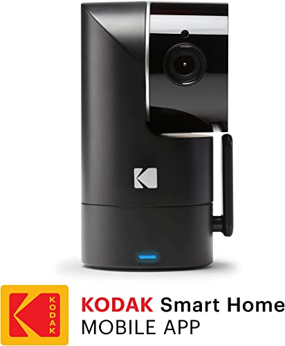 KODAK Cherish F685 Home Security Camera – Tilt Pan Zoom 1080p Camera, Night Vision, 120-degree View, Rechargeable Batteries and WiFi Mobile App