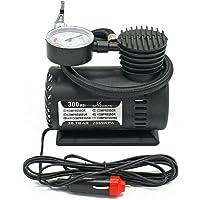 mewmewcat Bomba de ar elétrica automotiva de 300 PSI com compressor de ar portátil inflador para carro