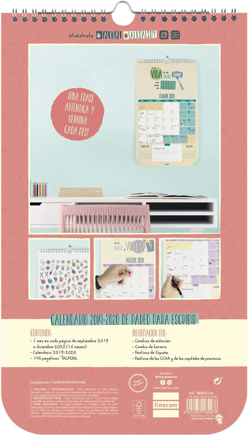 Finocam - Calendario de pared Talkual 2019-2020 Caos español ...