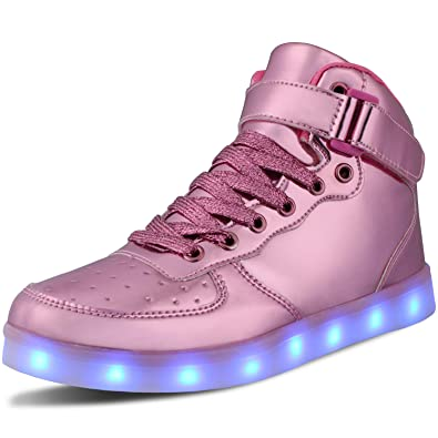 WONZOM FASHION LED Light Up Shoes USB Flashing Sneakers for Toddler//Kids Boots
