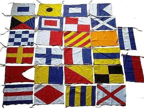 Marine Código Internacional – Bandera de Banderas – Set de 26 Total 28 Banderas – Náutico/marítimo Barco/Barco/Barco/decoración náutica: Amazon.es: Deportes y aire libre