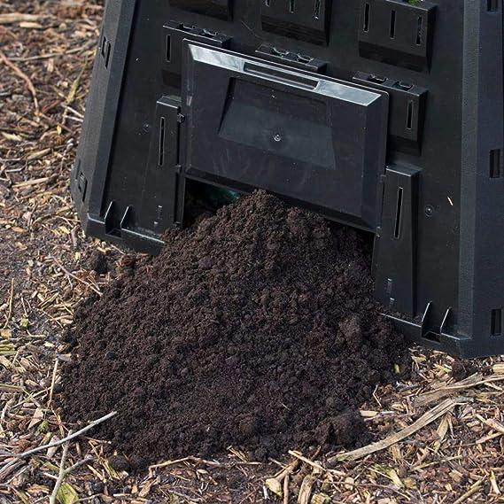 Nature Garten Komposter Thermokomposter Kompostbeh/älter Schwarz 1200 L 6071483