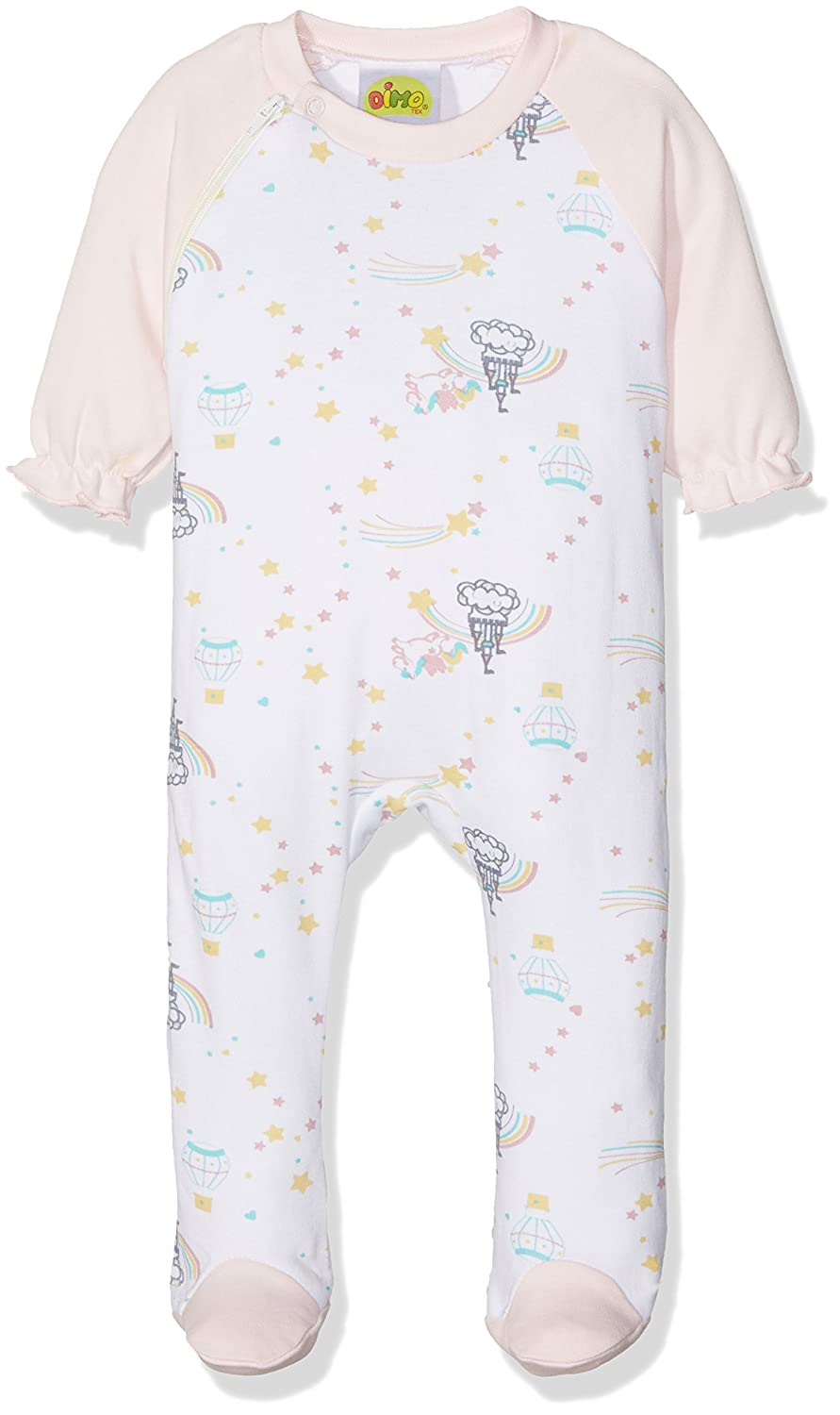 DIMO-TEX Baby Girls' Strampler Pegasus Footies 171390