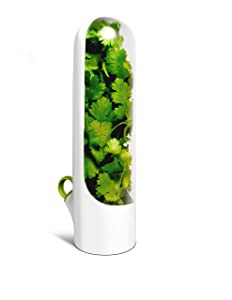 Herb Saver - Herb Keeper - Keeps Herbs Fresh for 3 Weeks - Produce Storage for Parsley, Cilantro, Thyme, Sage, Rosemary - by Prepara