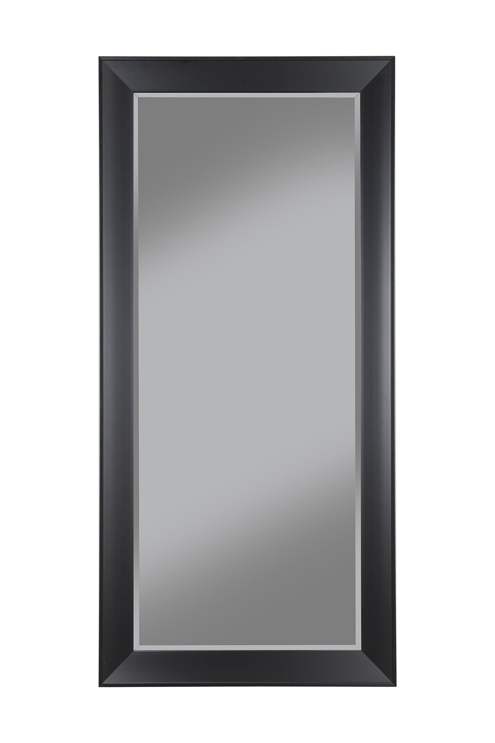 Sandberg Furniture 15011 Contemporary Full Length Leaner Mirror Frame, Black