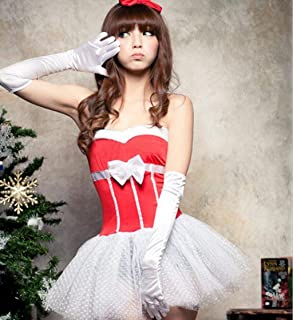 9a05c347060 MNII Women Ladies Sexy Sweet Miss Santa Claus Christmas Lace Fancy Dress  Costume