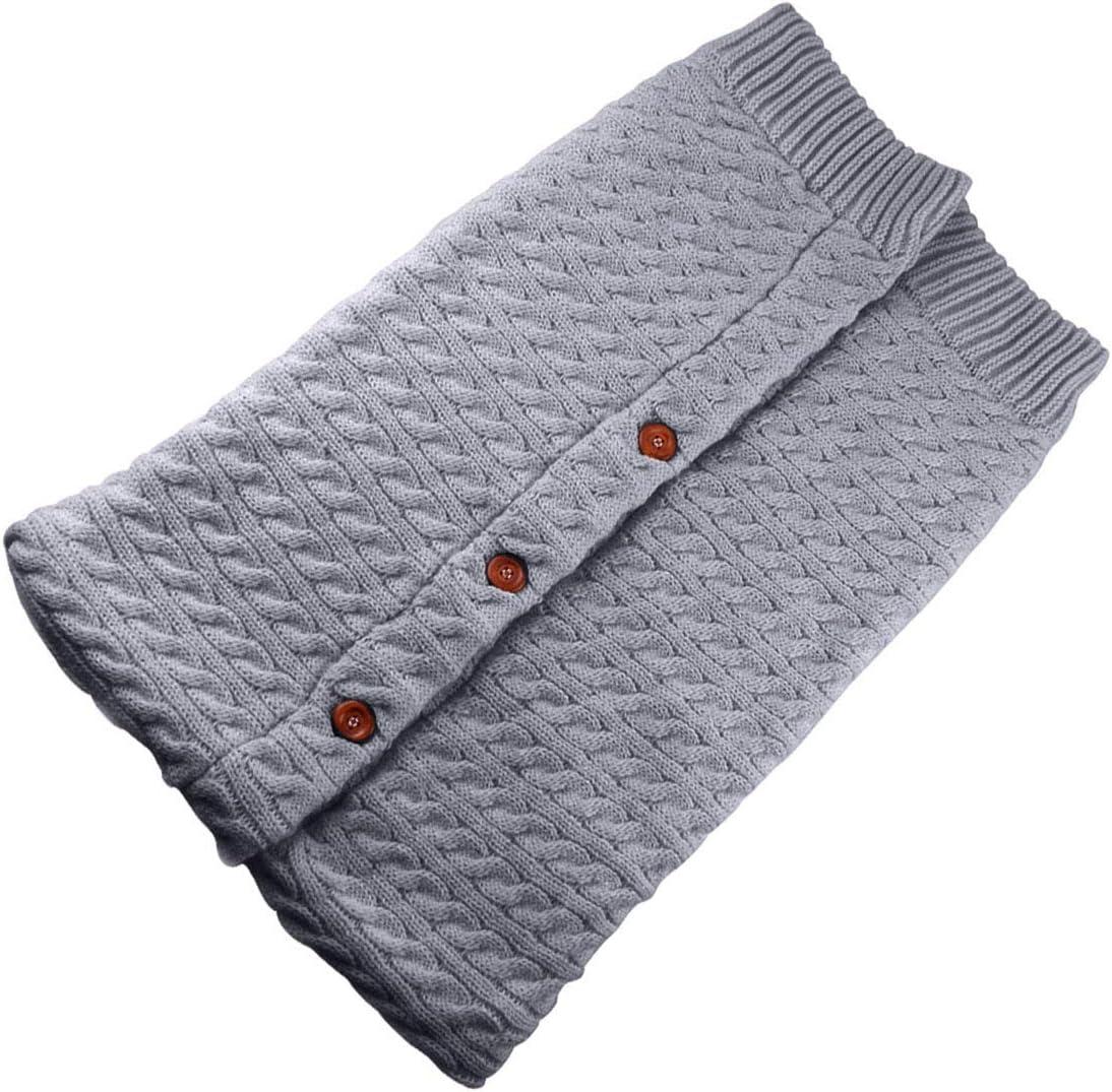 manta de punto m/ás terciopelo Manta cambiador para beb/és reci/én nacidos saco de dormir de forro polar para beb/é o ni/ño gris gris gruesa y c/álida