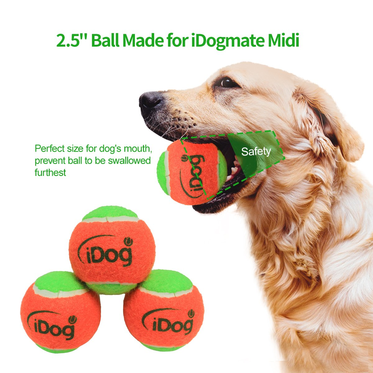 IDOGMATE Big Dog Ball Launcher, Automatic Rechargeable Tennis Ball Thrower Machine (Ball Launcher for Big Dog) by IDOGMATE (Image #2)
