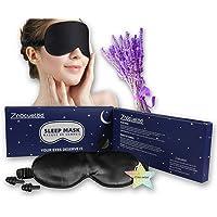 Silk Eye Mask for Sleeping Lavender Sleep Mask for Men Women,Soft Eye Blindfold for Yoga Meditation-Super Smooth and…