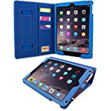 "iPad Air and New iPad 2017 9.7"" Case, Snugg Executive Electric Blue Leather Smart Case Cover [Lifetime Guarantee] Apple iPad Air and New iPad 2017 9.7"" Protective Flip Stand Cover With Auto Wake/Sleep"