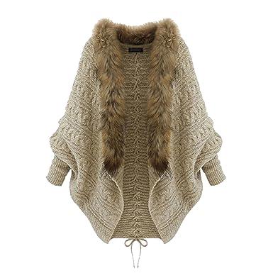 Gilet femme laine et fourrure