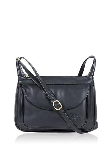 208ee62a2082 Luxury Women s Gigi Colourblock Black Leather Shoulder Bag best selling  ladies fashion