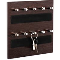 Bluewud Regis Keyhold -Wall Mounted Key Chain Hanging Board / Box - Skywood Wenge Small - RG-KH-SW-W10 - Ideal For Diwali Gift.