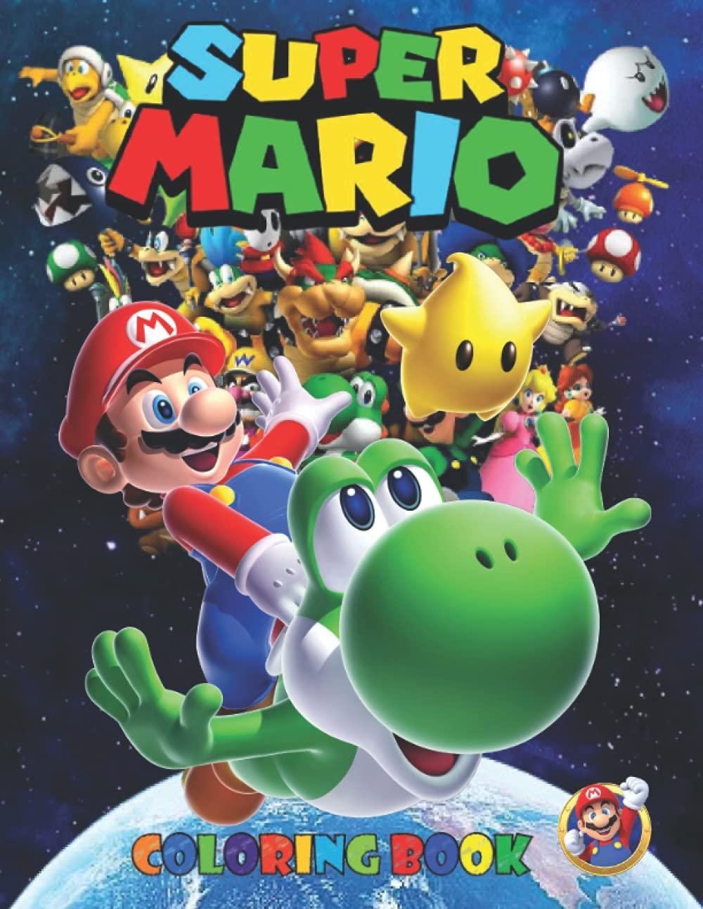 Super Mario Coloring Book 18 Amazing Drawings..super mario ...