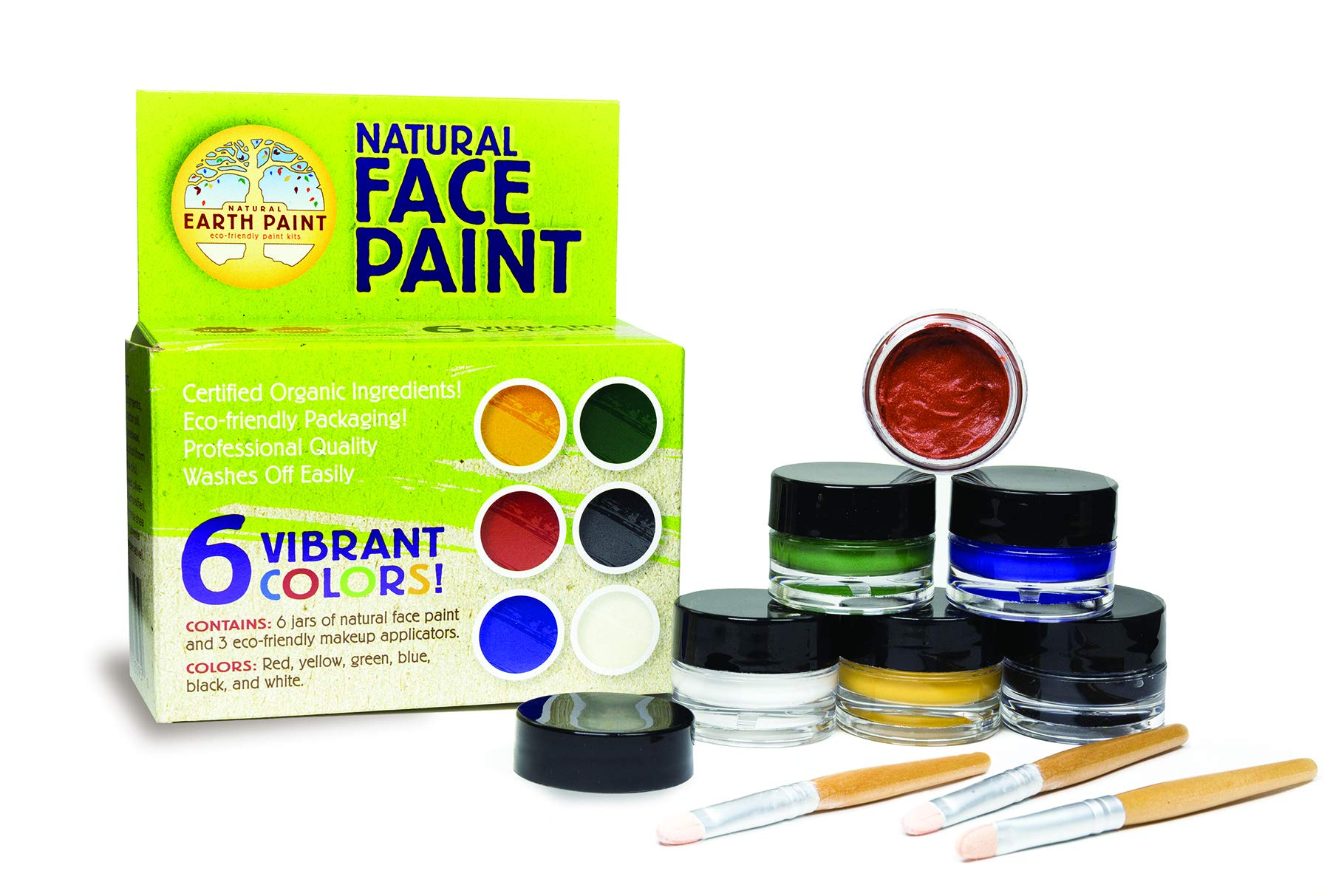 Natural Face Paint Kit - Safe, Organic and Hypoallergenic