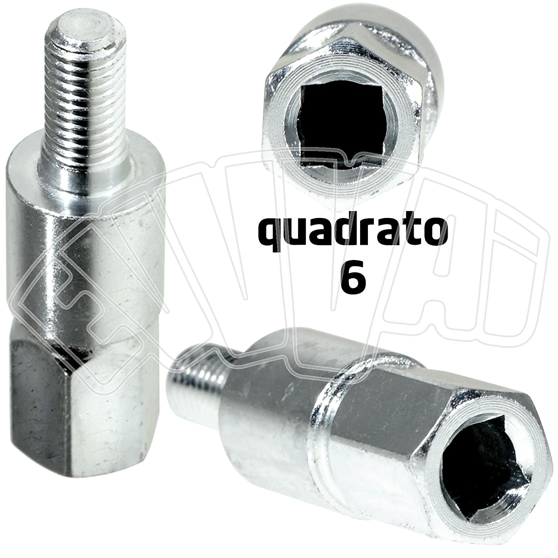 Cuadrado 6 - Inserto adaptador para par cónico desbrozadora ...