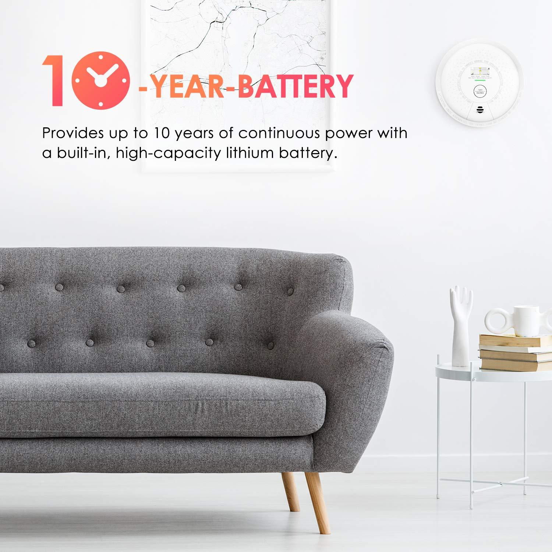 Amazon.com: Detector de humo X-Sense 10 años a batería, con ...