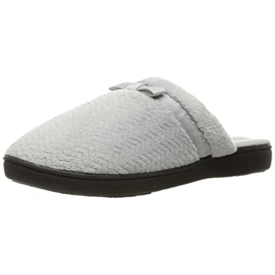 isotoner Women's Chevron Slip on Clog Slippers with Moisture Wicking for Indoor/Outdoor Comfort and Arch Support | Slippers