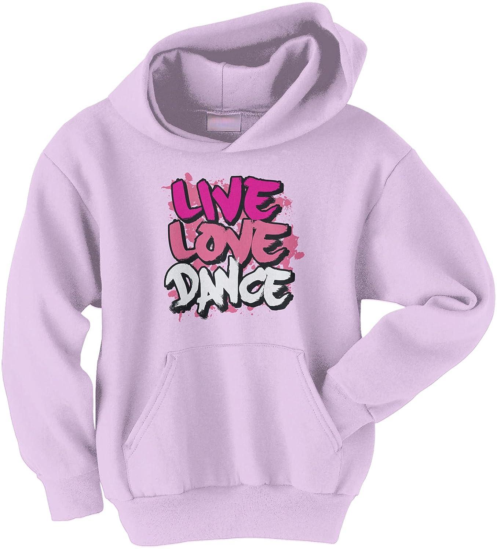 Threadrock Big Girls' Live Love Dance Youth Hoodie Sweatshirt TK00345-04