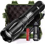 MIZOO LED Flashlight Torch Adjustable Focus Zoomable Mini Super Bright Torchlight
