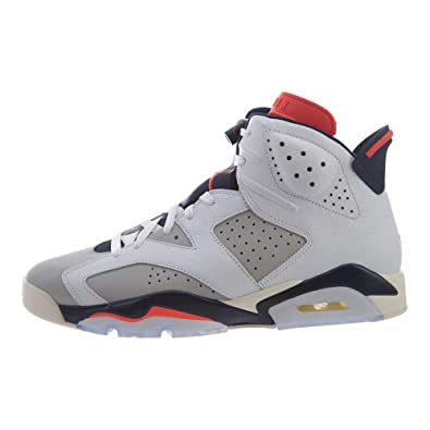 the latest 24d68 2d9b8 Amazon.com   Jordan Nike Men s Air 6  Tinker  Retro White Infrared  23-Neutral Grey-Obsidian 384664-104 (Size  10.5)   Fashion Sneakers