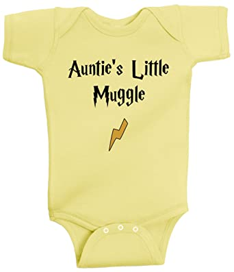 27e502454782 BeeGeeTees Auntie s Little Muggle Funny Wizard Baby Romper Wizard Onesie ( Newborn
