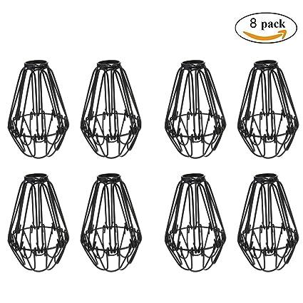 Adjustable wire cage lampshade motent 8pcs vintage industrial metal adjustable wire cage lampshade motent 8pcs vintage industrial metal bird cage bulb guard island pendant keyboard keysfo Choice Image