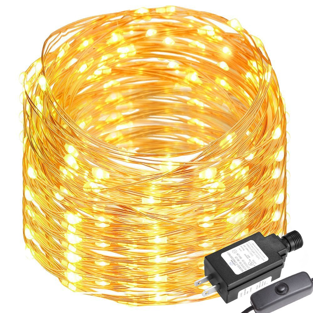 LE 65ft 200 LEDs Copper Wire LED Warm White Fairy String Lights ...