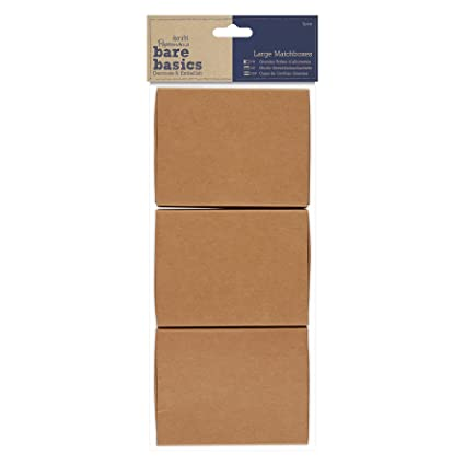 DOCrafts PMA174652 Papermania Bare Basics Medium Matchboxes (4 Pack), Brown