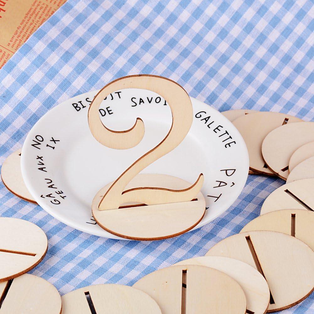1 20 Numeri Per Tavoli In Legno Con Base Segnaposto Segnatavolo Decorazione Per Ristorante Matrimonio Nozze Amazon It Casa E Cucina