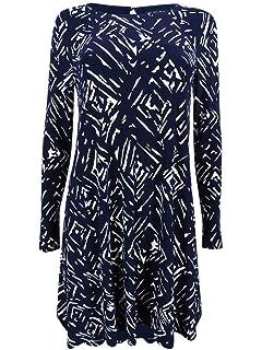 889bb9a328d Lauren Ralph Lauren Women's Plus Size Velvet-Lapel Dress at Amazon ...
