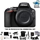 Nikon D3500 24.2MP DSLR Camera Body + TRD ® 20 Piece Digital Essential Kit