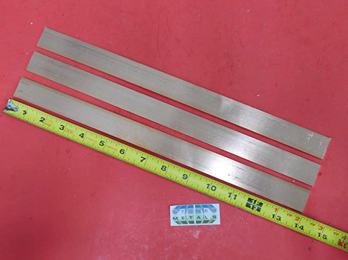 6 Pieces 1//8 x 1 C110 Copper BAR 14 Long Solid Flat Mill Bus Bar Stock H02