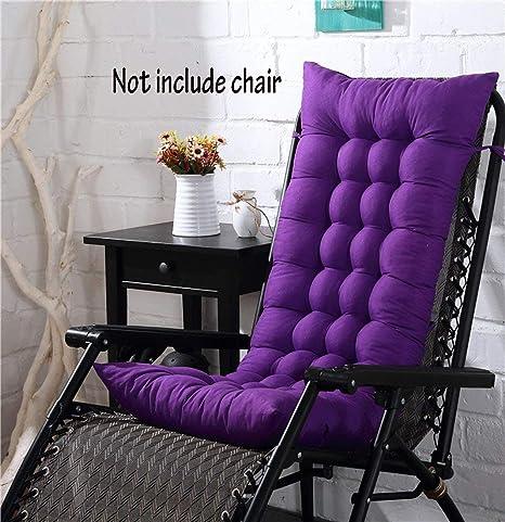 Cojín para silla de respaldo alto, para casa, oficina, viscoelástico, con botones, Morado oscuro, 128*48*8cm