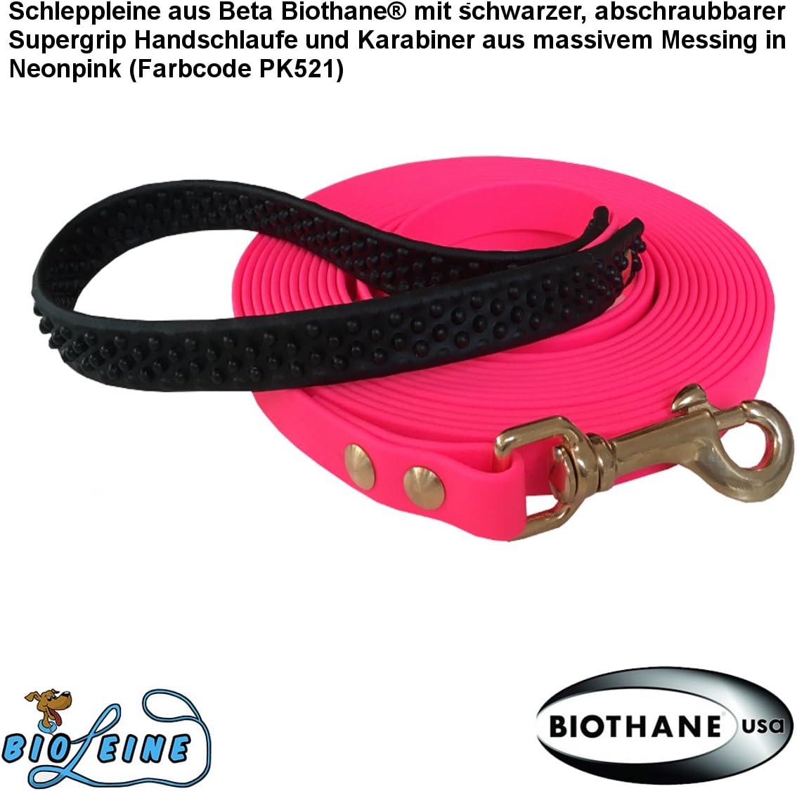 bio-leine 5m Schleppleine aus Beta-Biothane f/ür kleine und gro/ße Hunde 12mm breit