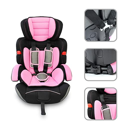 10 opinioni per Seggiolone auto rosa per bambino lotto 1/2/3- seggiolone auto di sicurezza 9kg a