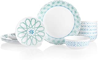 product image for Corelle 18-Piece Service for 6, Chip Resistant Dinnerware Set, Amalfi Verde
