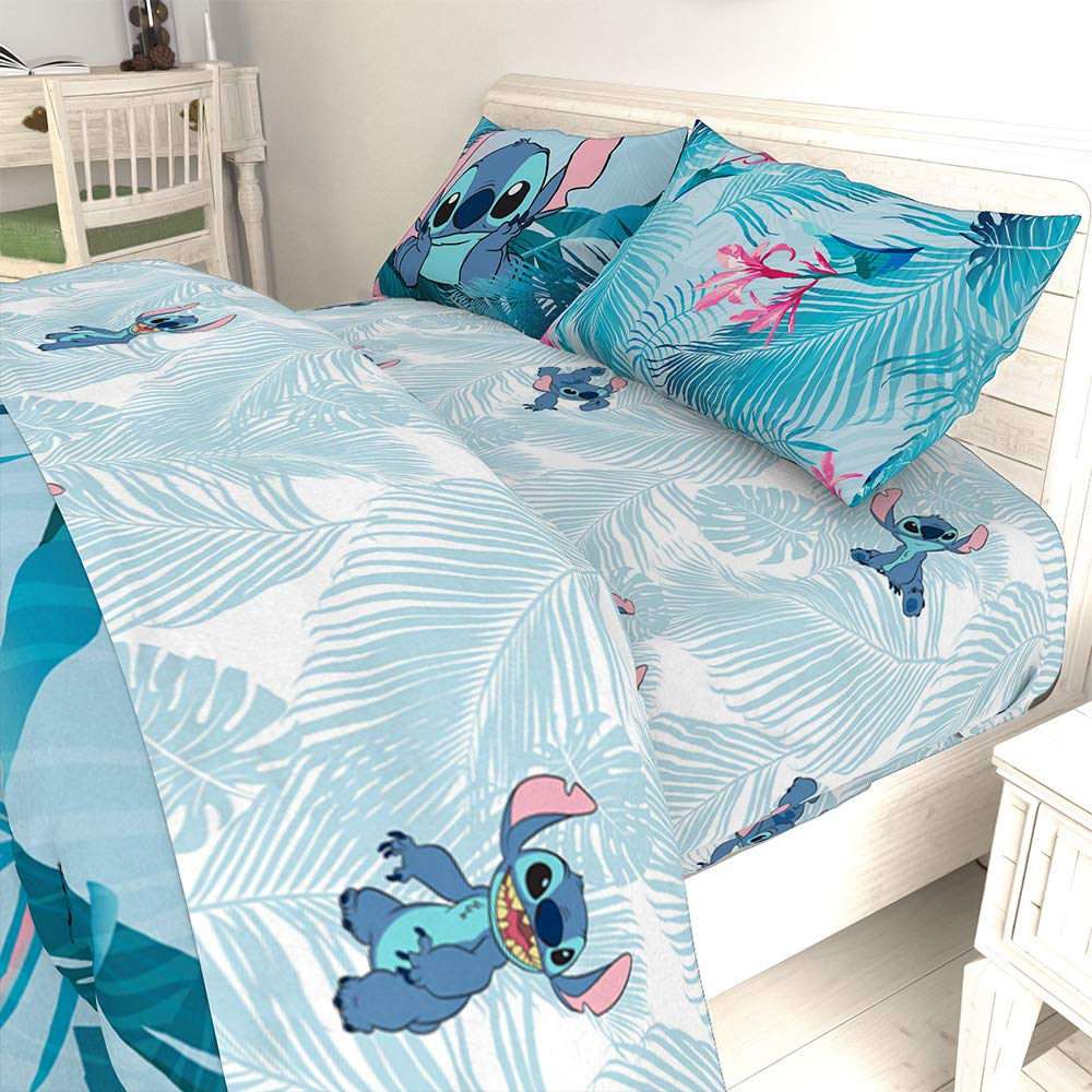 Jay Franco Disney Lilo & Stitch Floral Fun 7 Piece Full Bed Set - Includes Reversible Comforter & Sheet Set Bedding - Super Soft Fade Resistant Microfiber - (Official Disney Product) by Jay Franco (Image #10)