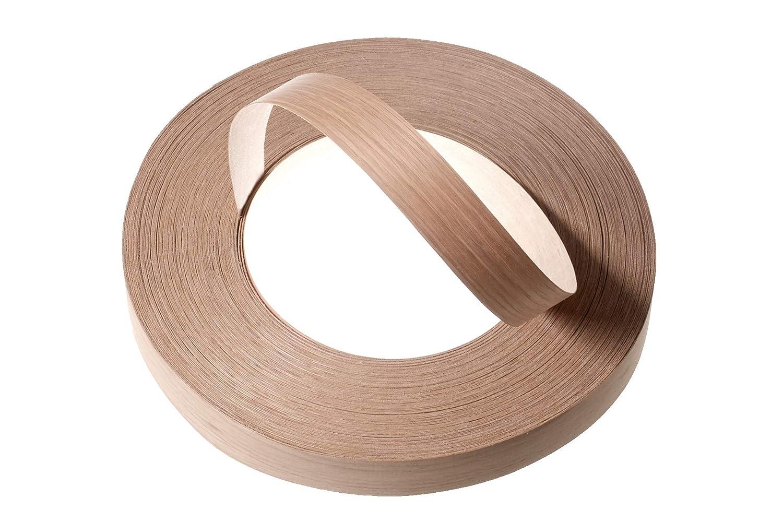 Faisceau de placage de bois/Ruban de bordure de chêne/bordure de bordure en chêne blanc (30mm x 50m) - Brochure pré-collée de qualité supérieure (Hotmelt) Rouleaux de bordure laminés et poncés (la