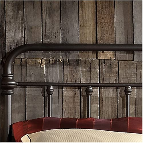 TRIBECCA home Wrought Iron Bed Frame Dark Bronze Metal Queen Size USA Vintage Look Shabby Chic French Country Queen