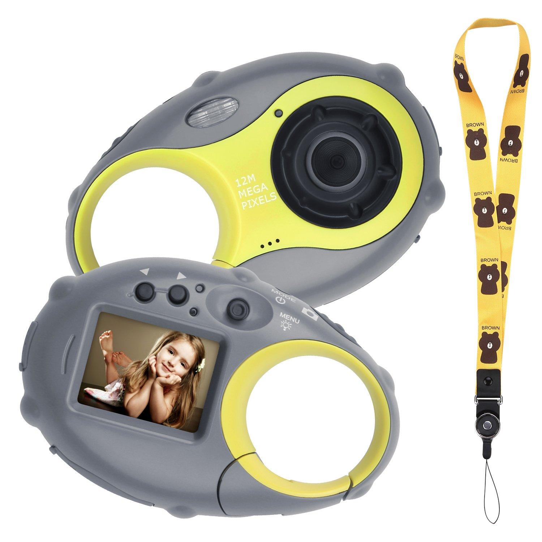SOJUNER Kids Camera Digital Mini Kids Video Camera Action Camera Camcorder Recorder 500 Million Pixels 1.5 Inch Color Screen 4X Digital Zoom 1080p (Without Card)