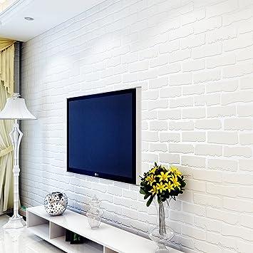 3D Moderne Tischplattentapeten/einfache Vlies Tapeten/Weiße Ziegel Wohnzimmer  Tapete/Stereo