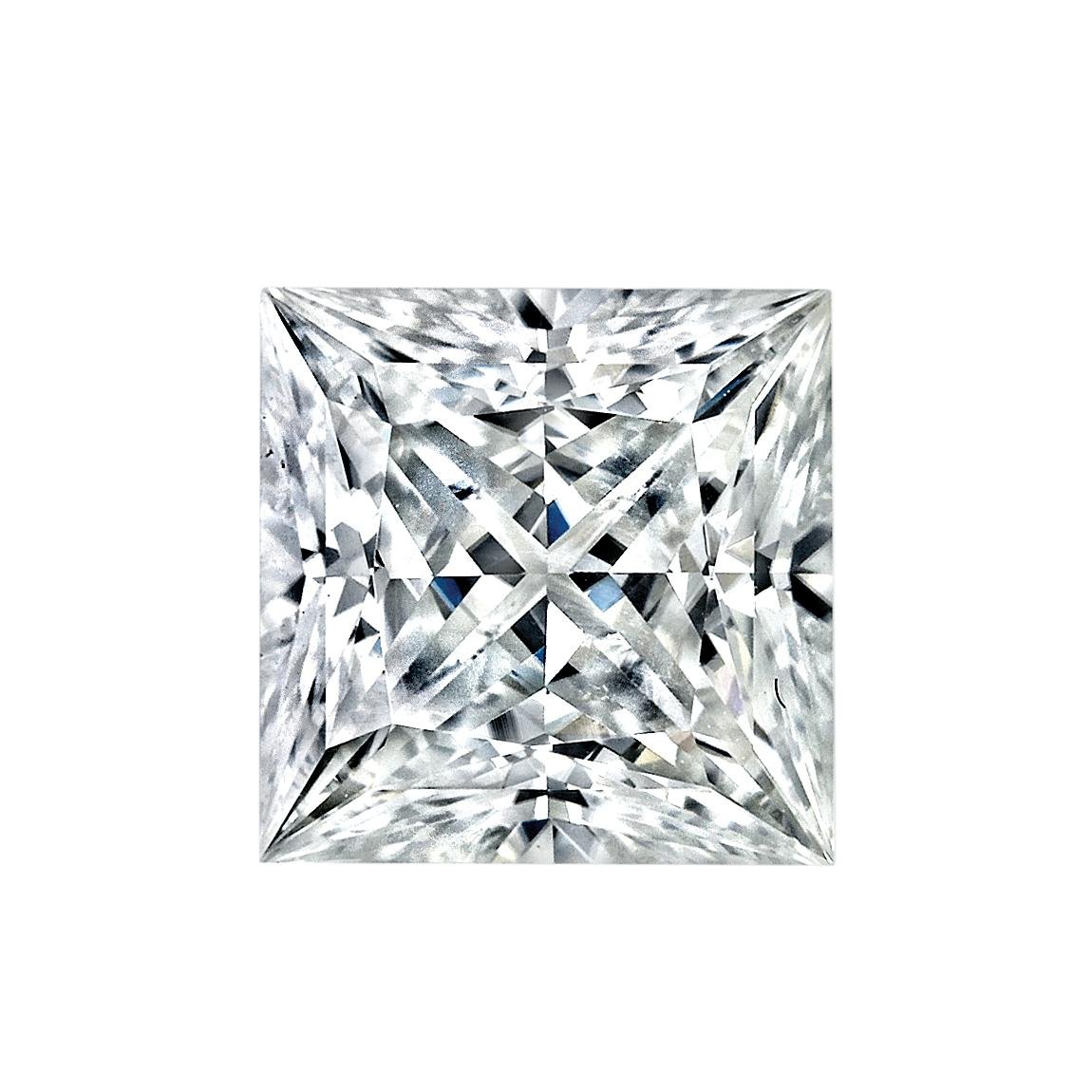 5.5MM Princess Cut Forever Classic Moissanite by Charles & Colvard - Very Good Cut (0.83ct Actual Weight, 0.90ct. Diamond Equivalent Weight)