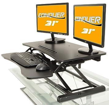 Marvelous Desktop Tabletop Standing Desk Adjustable Height Sit To Stand Ergonomic Workstation Home Interior And Landscaping Ponolsignezvosmurscom