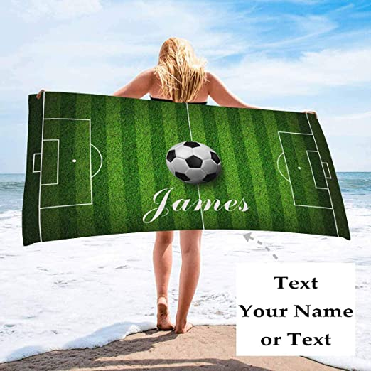Soccer Girl Towel Set Personalized Gift Bath Towels Hand Towels