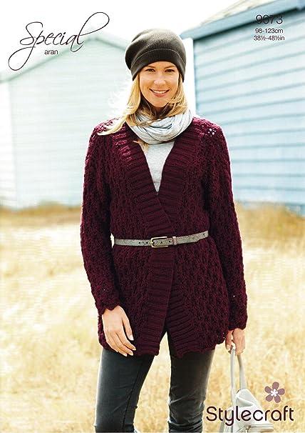 Stylecraft 9073 Knitting Pattern Ladies Jacket In Special Aran