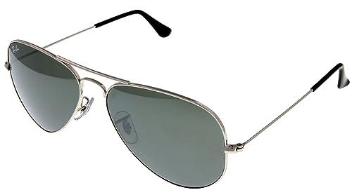 Amazon.com: Ray Ban anteojos de sol Aviator paladio Espejo ...