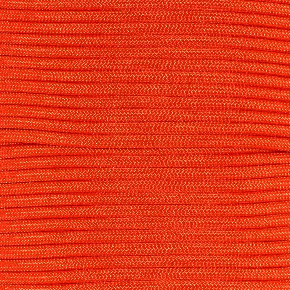 Type III 550 Paracord - Neon Orange - 25' Hank - 7 Strand Core - Parachute Cord, Nylon Commercial Paracord, Survival Cord